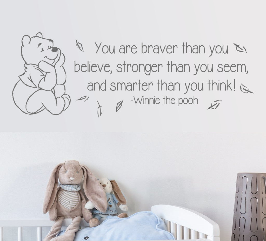 Winnie The Pooh You Are Stronger Wall Sticker