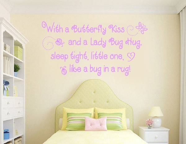 With a Butterfly Kiss Wall Sticker - Wall Chick