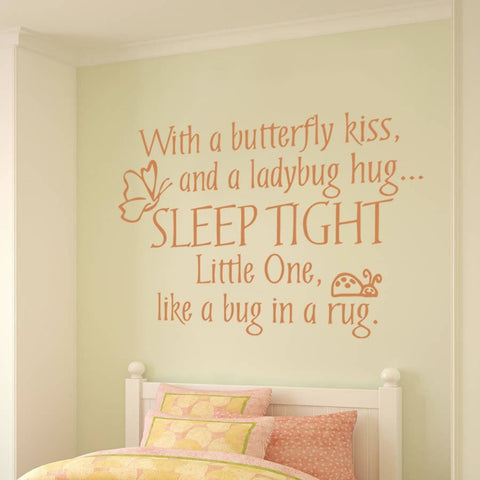 Butterfly Kiss Wall Sticker Wall Sticker - Wall Chick