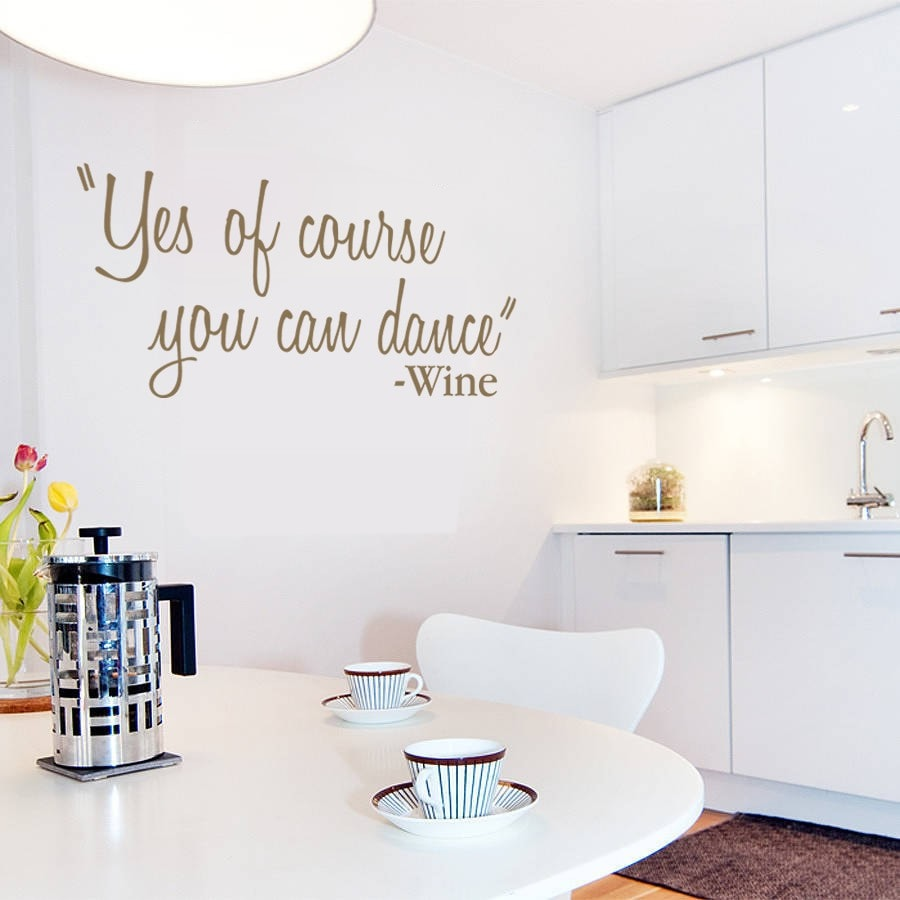 Yes of Course You Can Dance Wall Sticker - Wall Chick