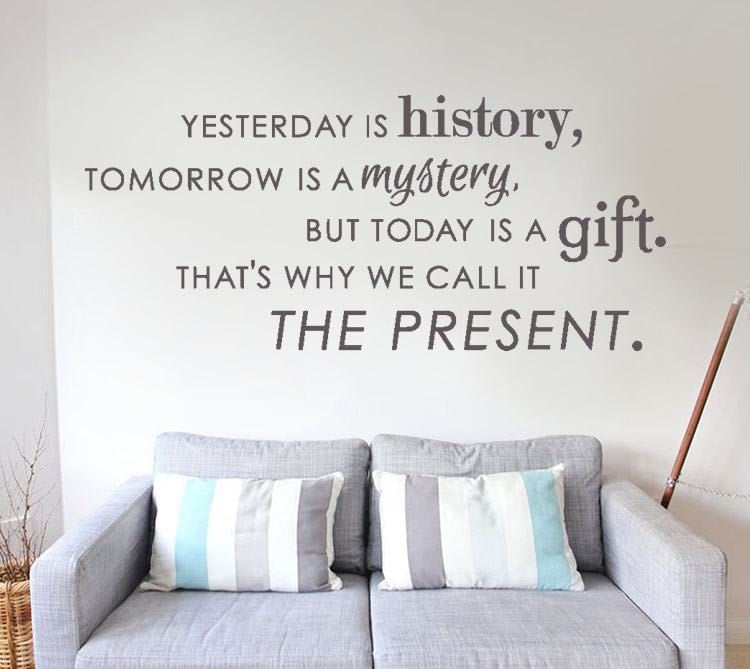 Yesterday is History Wall Sticker - Wall Chick