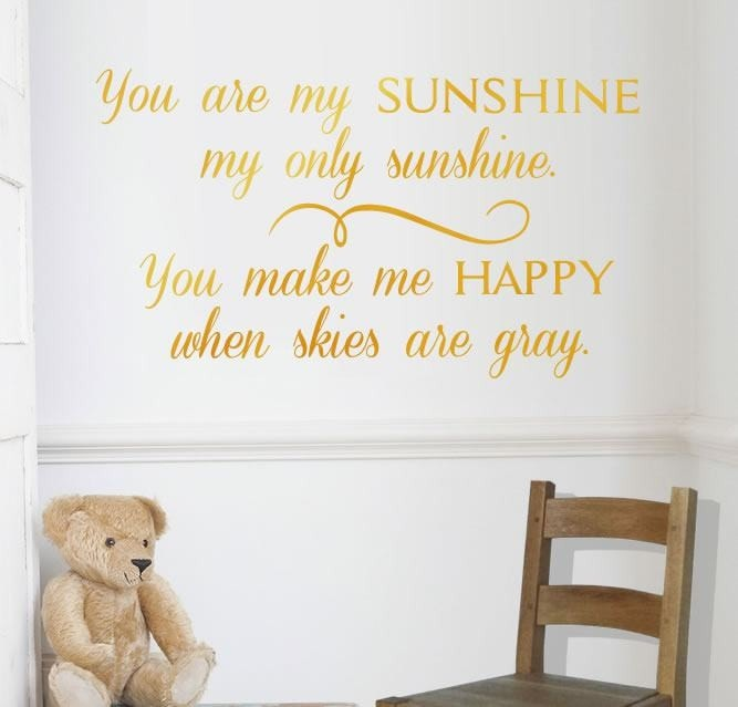 You Are My Sunshine Wall Sticker   Wall Chick