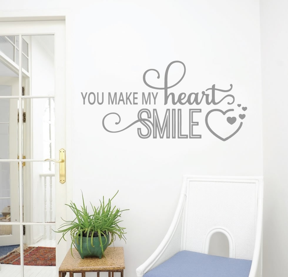 You Make My Heart Smile Wall Sticker - Wall Chick