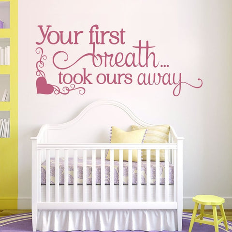 Your First Breath Wall Sticker - Wall Chick