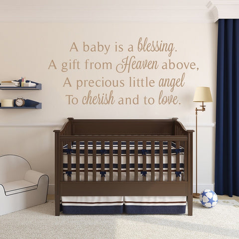 A Baby is a Blessing Wall Sticker - Wall Chick