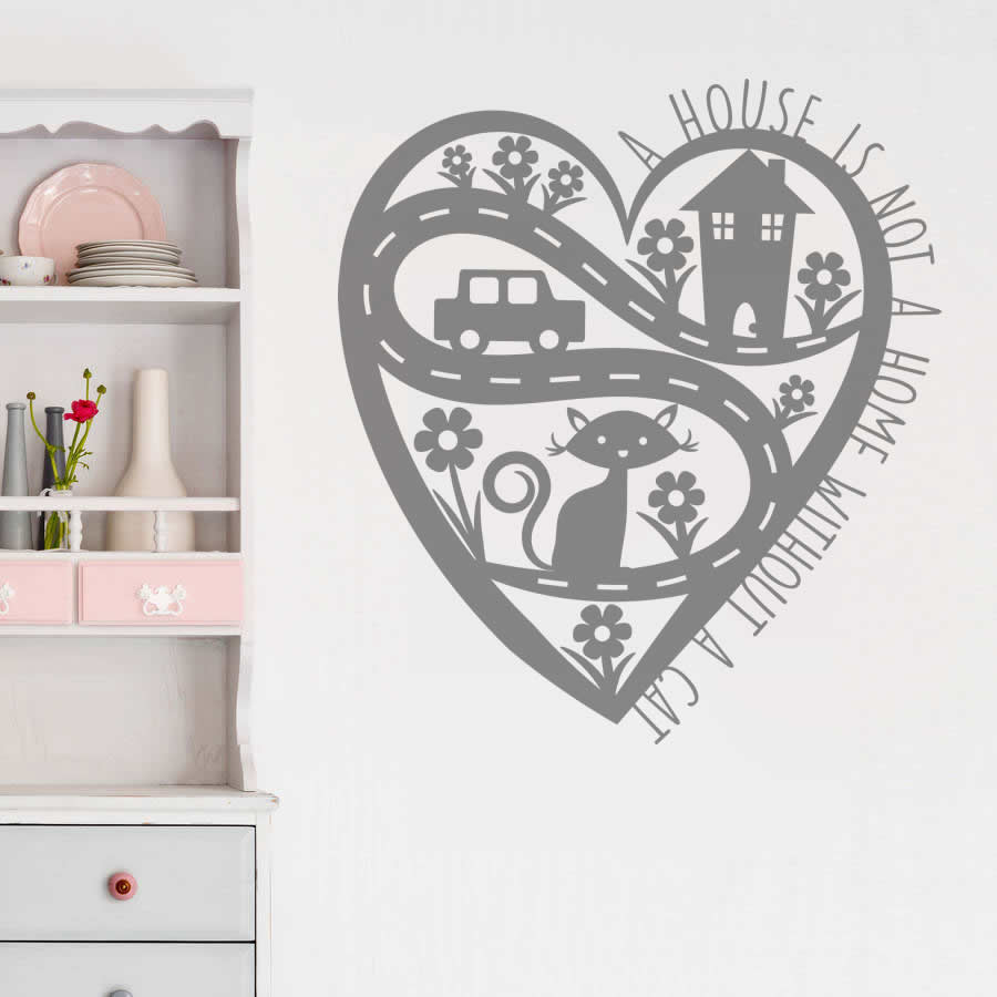 A House Is Not Home Without A Cat Wall Sticker