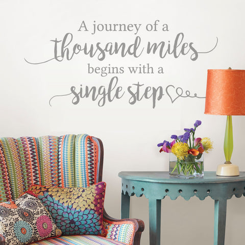 A Journey of a Thousand Miles Wall Sticker