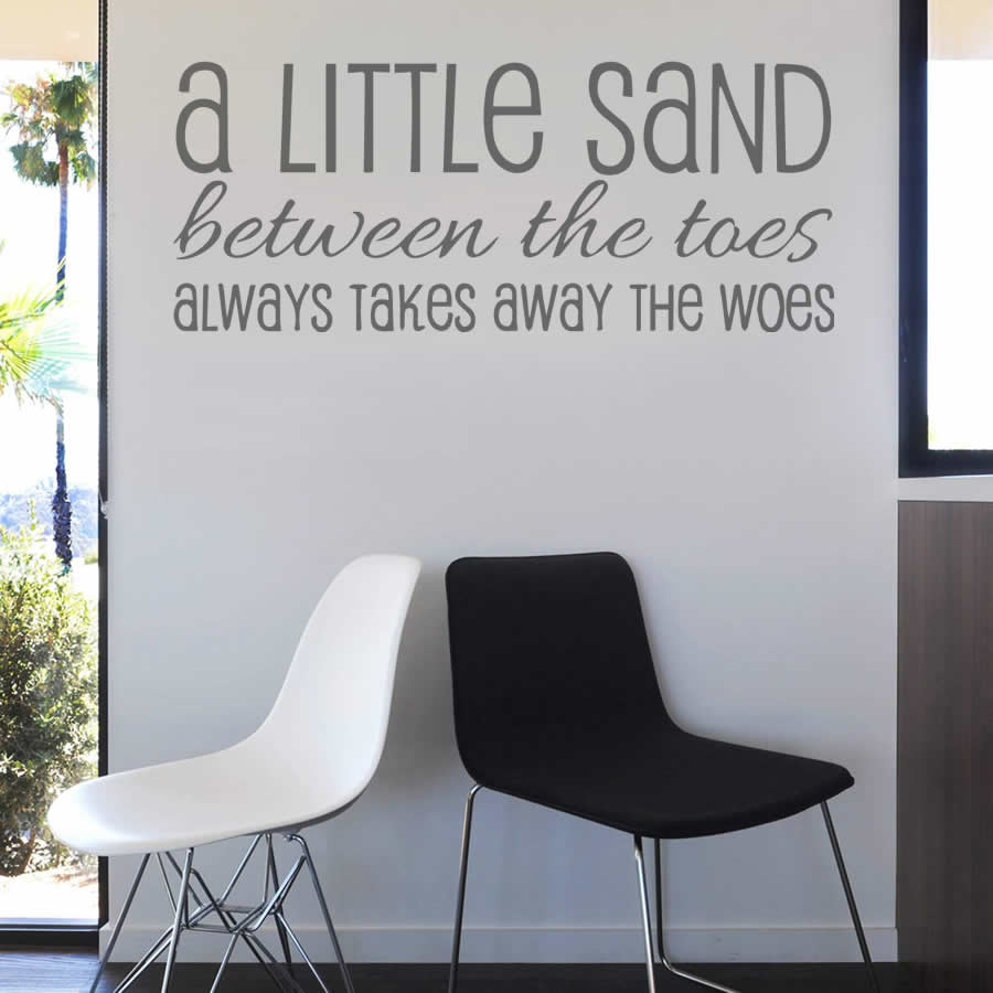 A Little Sand Between The Toes Wall Sticker