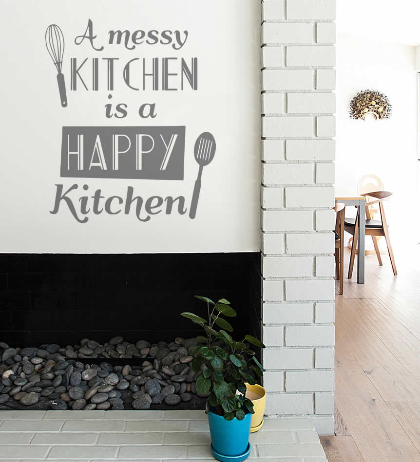 A Messy Kitchen Wall Sticker