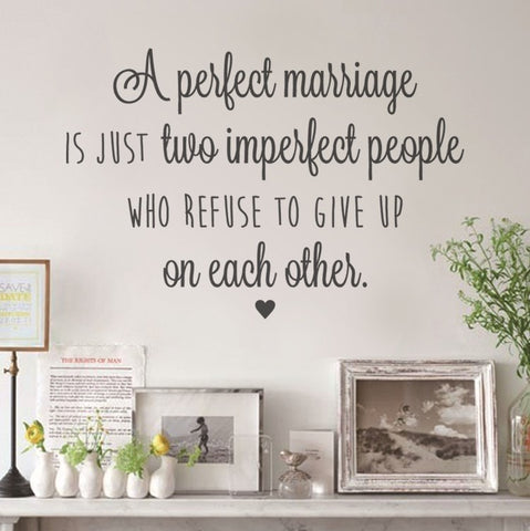 A Perfect Marriage Wall Sticker - Wall Chick