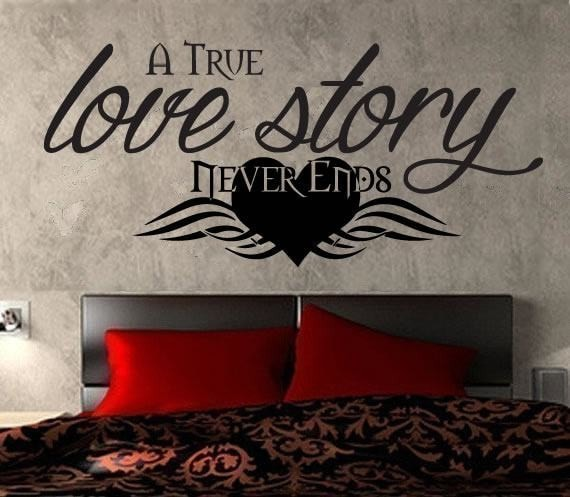 A True Love Story Never Ends Wall Sticker Wall Sticker - Wall Chick