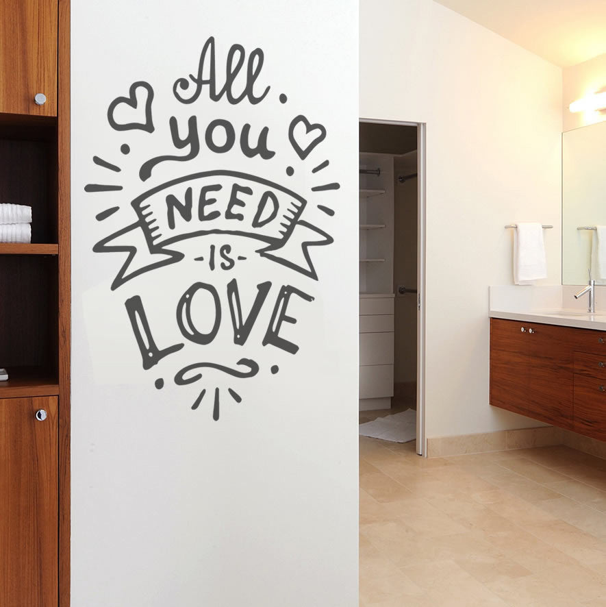All You Need is Love New Wall Sticker