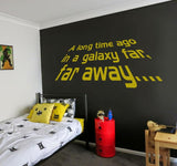 A Long Time Ago Wall Sticker 4ft Wide MEDIUM GREY Clearance