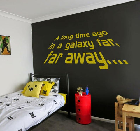 A Long Time Ago Wall Sticker