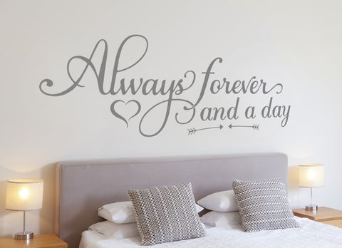 Always Forever and a Day Wall Sticker - Wall Chick