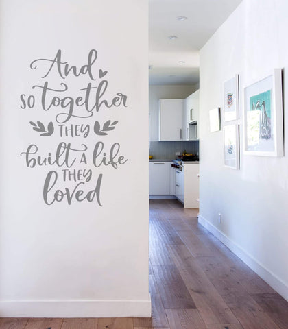And So Together Wall Sticker
