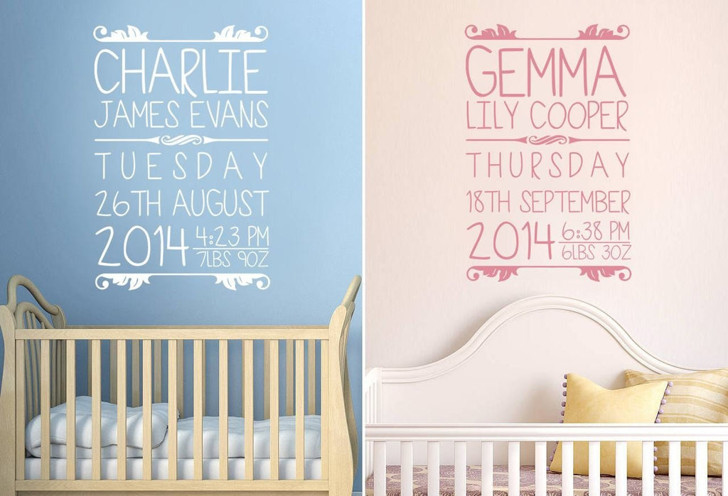 Baby Details Wall Sticker Wall Sticker - Wall Chick