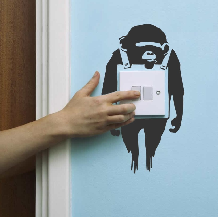 Banksy - Light Switch Wall Sticker Wall Sticker - Wall Chick