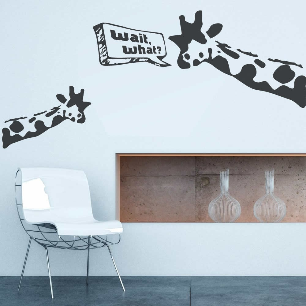 Banksy - Giraffe Wait What Wall Sticker Wall Sticker - Wall Chick