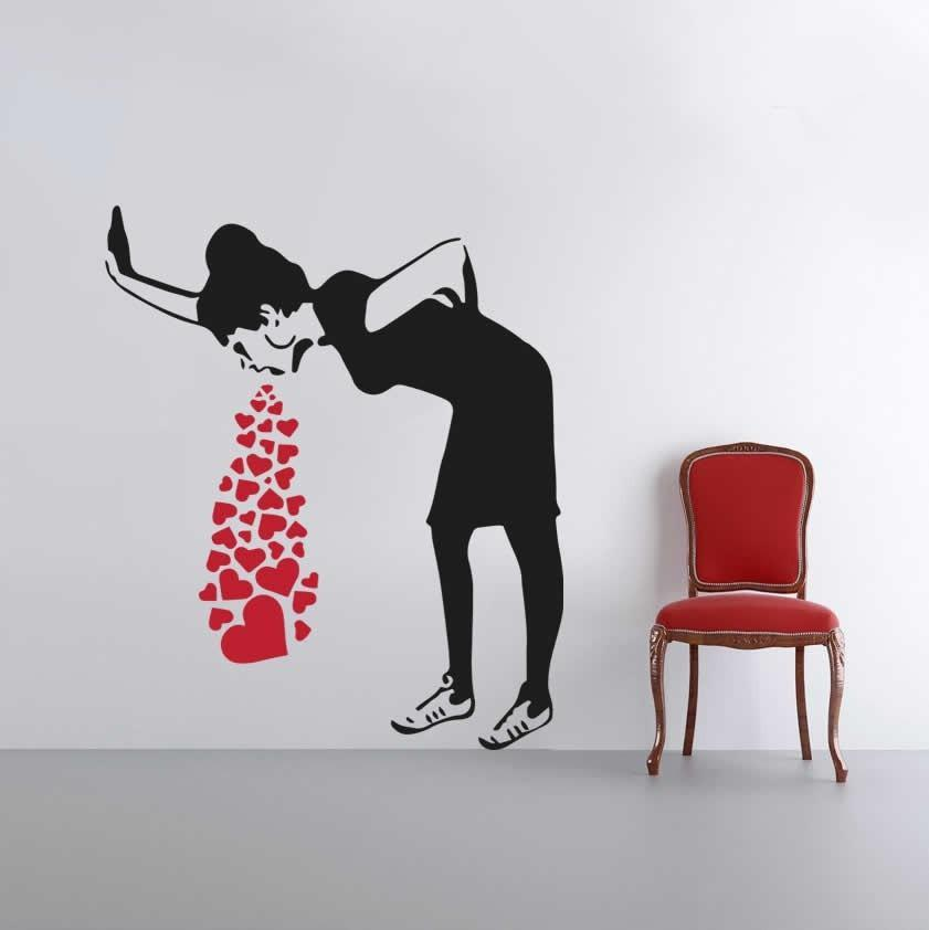 Love Sick - Banksy Wall Sticker