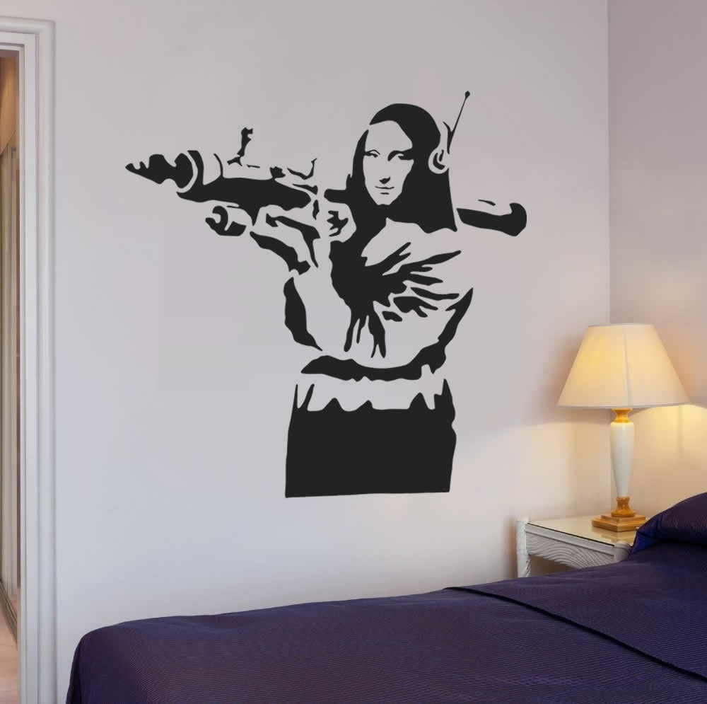 Banksy - Mona Lisa Wall Sticker Wall Sticker - Wall Chick
