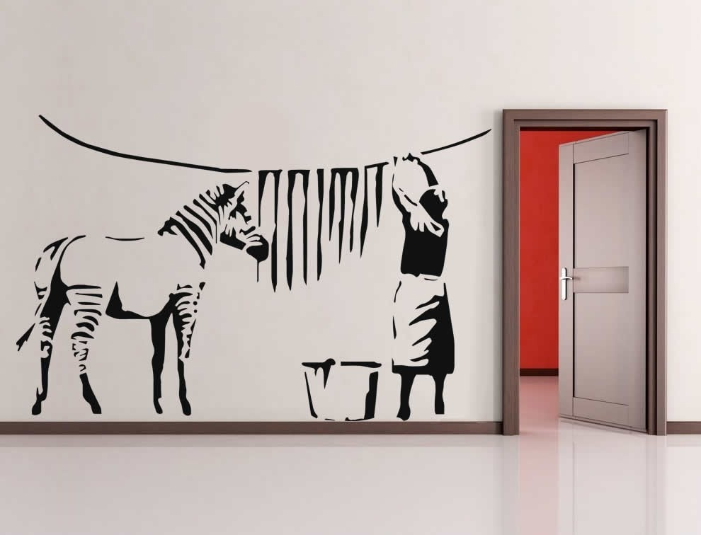 Banksy - Zebra Stripes Wall Sticker - Wall Chick