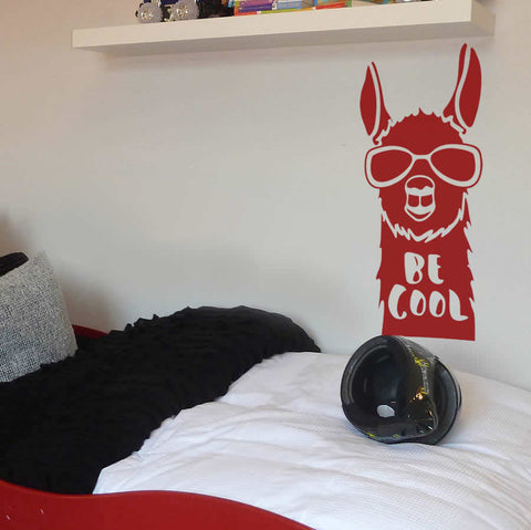 Be Cool Llama Wall Sticker