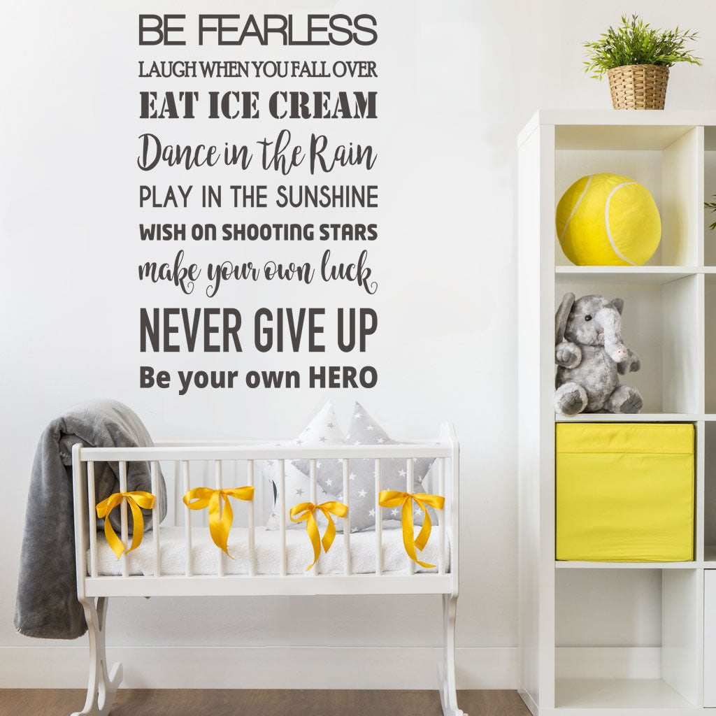 Be Fearless Wall Sticker