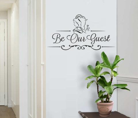 Be Our Guest Beauty and the Beast Inspired Wall Sticker
