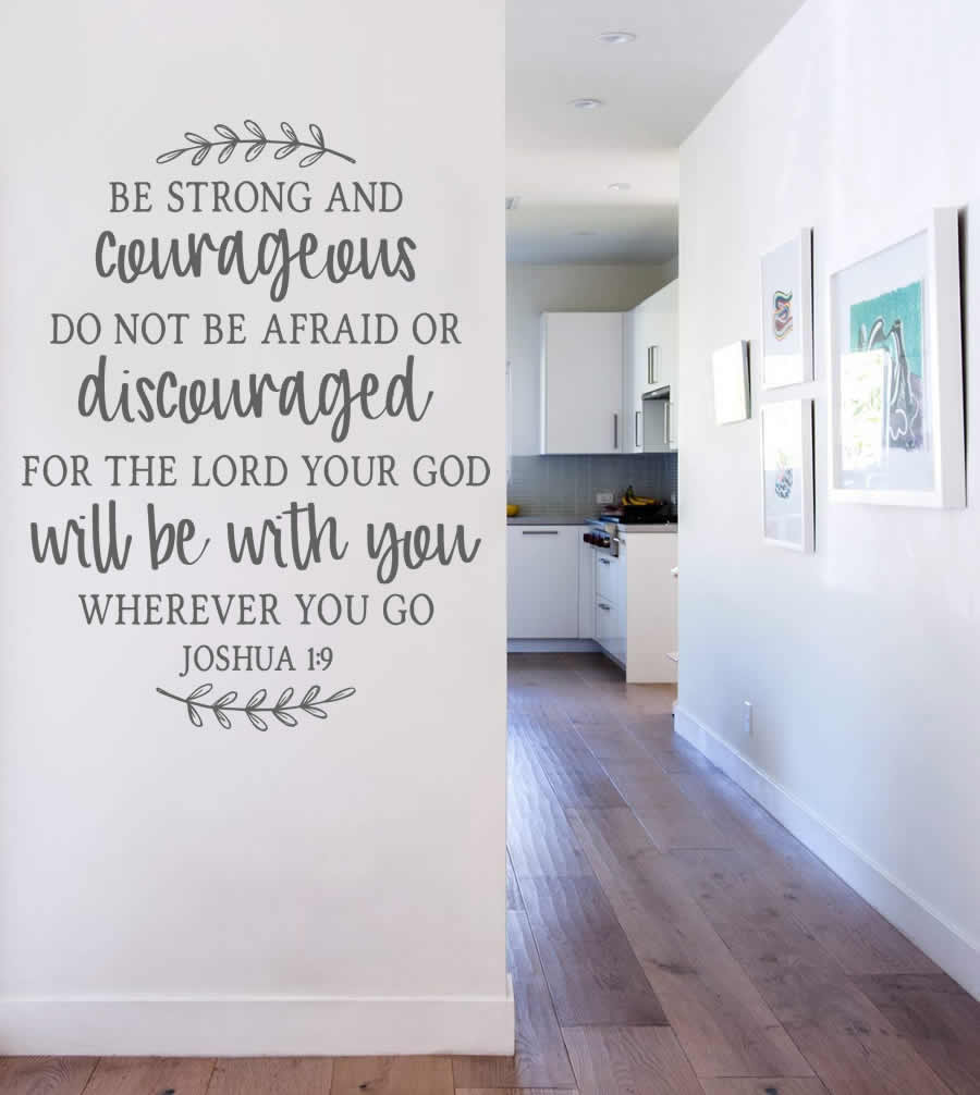 Be Strong and Courageous Wall Sticker
