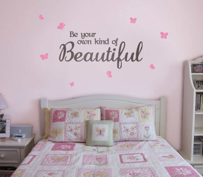 Girls Be Your Own Kind of Beautiful Wall Sticker Wall Sticker - Wall Chick