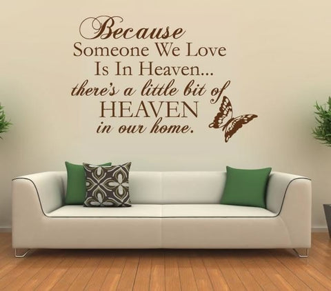 Because In Heaven Wall Sticker Wall Sticker - Wall Chick
