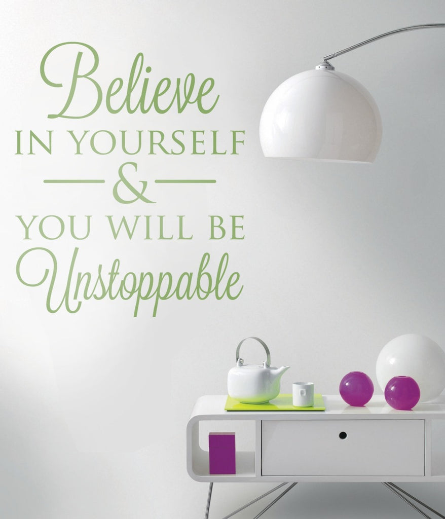 Believe In Yourself Wall Sticker - Wall Chick