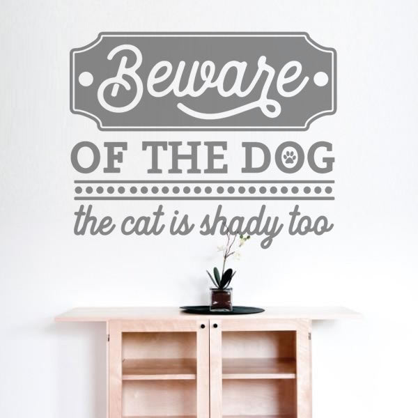 Beware of the Dog Wall Sticker