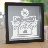 Personalised Merry Christmas Glitter Frame
