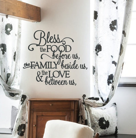 Bless the Food Wall Sticker Wall Sticker - Wall Chick
