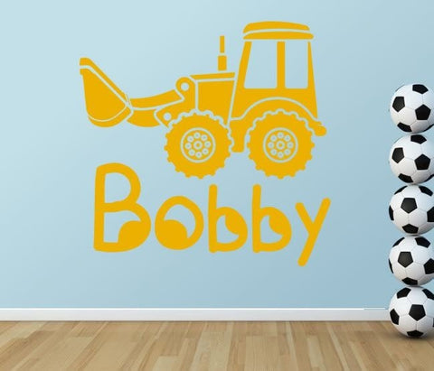 Digger with Name Wall Sticker - Wall Chick