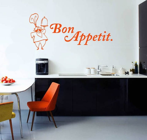 Bon Appetit Chef Wall Sticker - Wall Chick