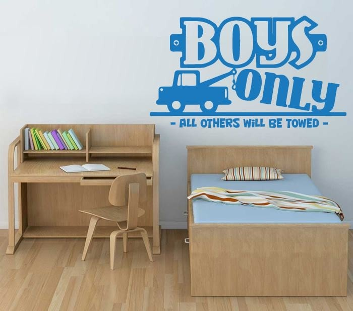 Boys Only Wall Sticker - Wall Chick