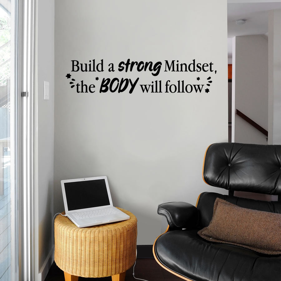 Build a strong Mindset Wall Sticker
