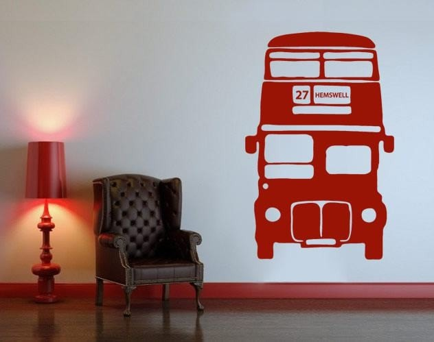 Bus with Number/Word Wall Sticker Wall Sticker - Wall Chick
