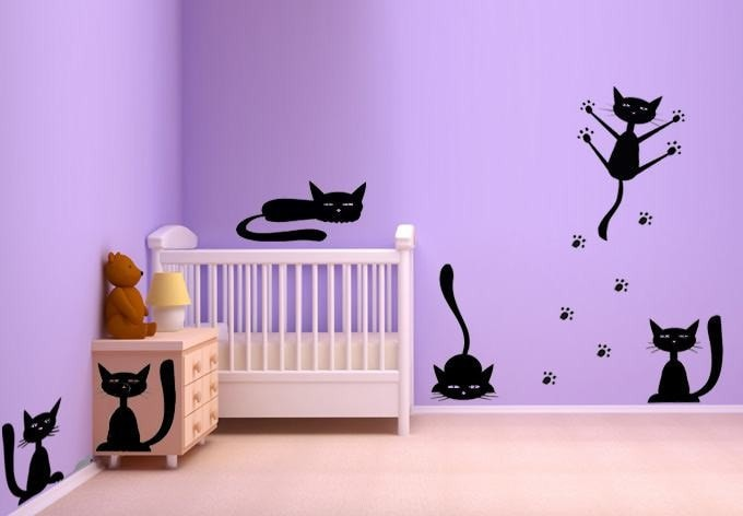 Cat Set Wall Sticker - Wall Chick