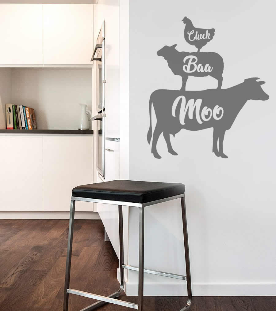 Cluck Baa Moo Wall Sticker