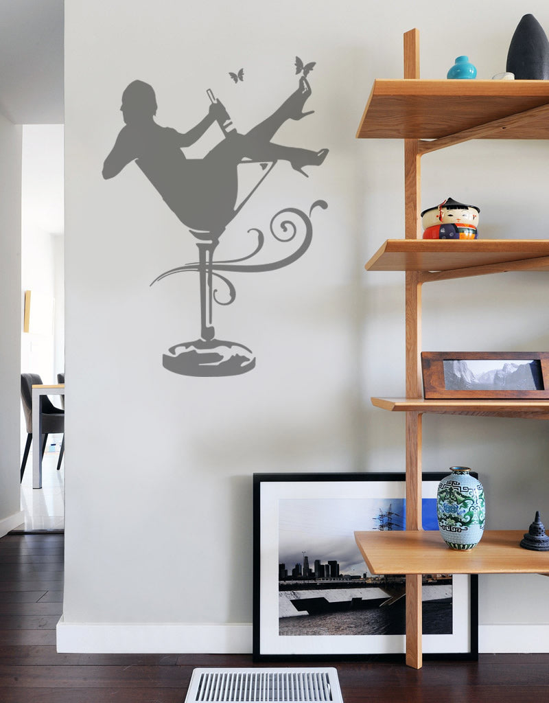 Cocktail Girl Wall Sticker