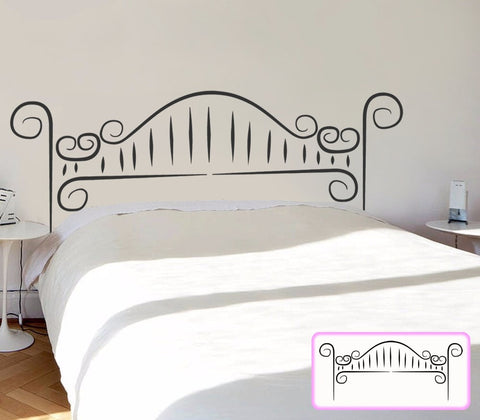 Curly Headboard Wall Sticker Wall Sticker - Wall Chick