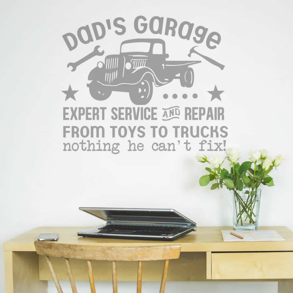 Dad's Garage Wall Sticker