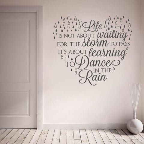 Life Dance Rain Wall Sticker - Wall Chick