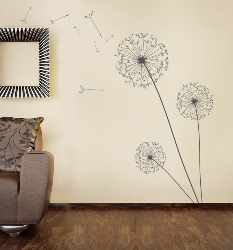 Large Dandelion Set Wall Sticker - Wall Chick