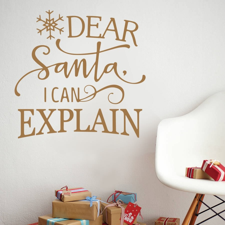 Dear Santa Wall Sticker - Wall Chick