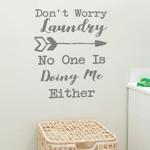 Dont Worry Laundry Wall Sticker